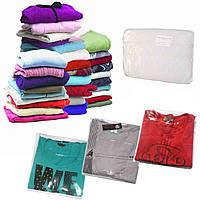 Пакеты для упаковки одежды с липким клапаном 40х50см, в упаковке 100 шт.