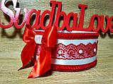 Свадебное сито Классика. Цвет красный., фото 2