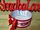 Свадебное сито Классика. Цвет красный., фото 3