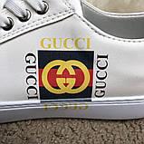 Gucci Logo Sneaker White ум, фото 6