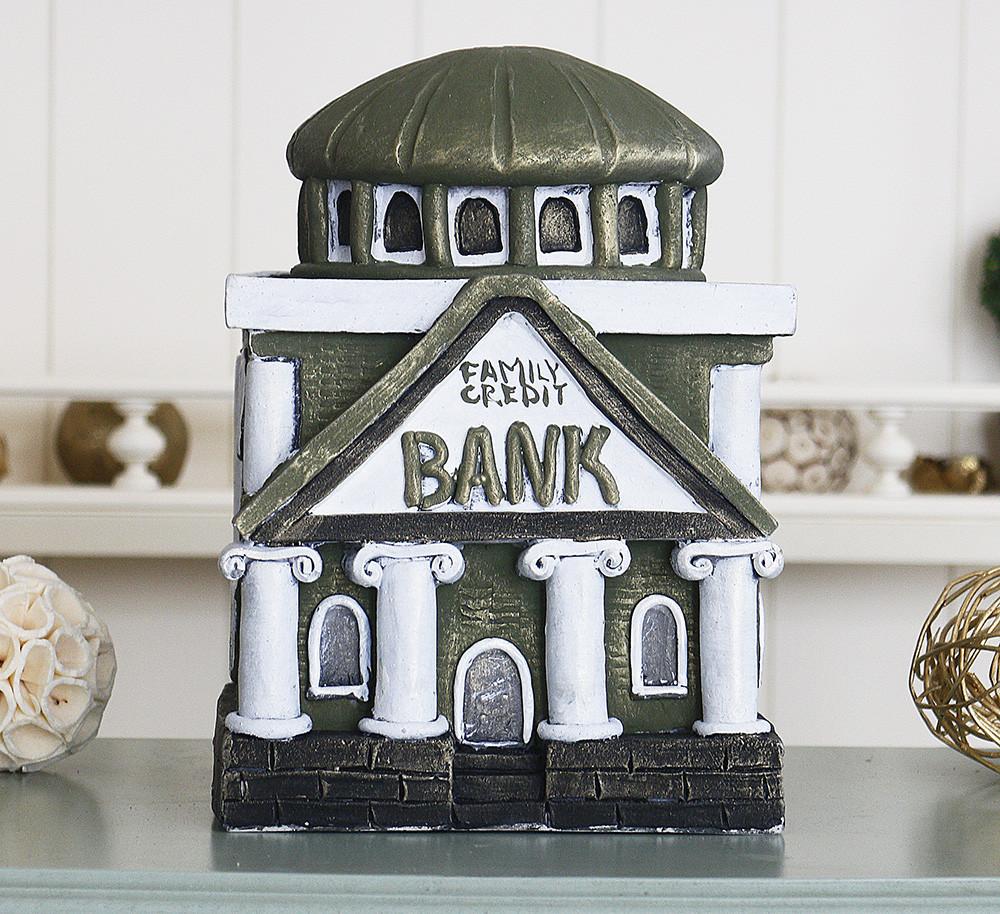 Копилка Банк семьи оливковый