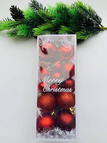 Елочные шары. Новогодние шары на елку(красные), фото 2