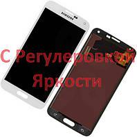 SAMSUNG Galaxy S5 G900 / G900A / G900F TFT Белый Яркость Регулируется Модуль Экран Дисплей LCD + Сенсор