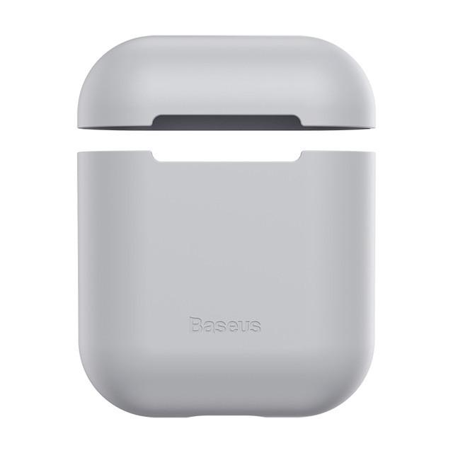 Baseus чехол для наушников Apple AirPods - Оригинальный силиконовый серый кейс-футляр для наушников
