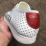 Gucci Falacer Sneaker Golden Stars White ум, фото 6