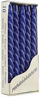 Свеча витая темно синяя Bispol 24.5 см 10 шт (20-056)