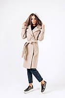 Демисезонное  пальто из шерстиАльпака Д 300