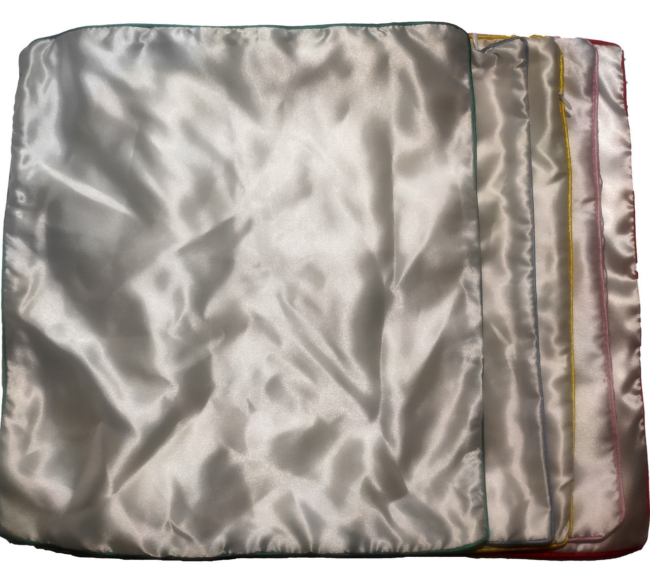 Подушка сублимационная атласная цветная с КАНТОМ 35х35 РОЗОВЫЙ