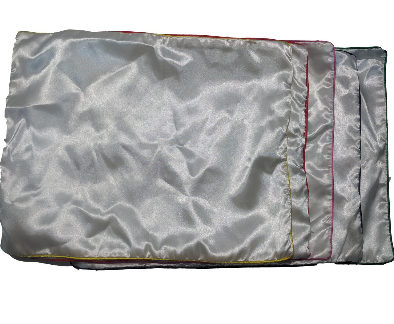 Подушка сублимационная атласная цветная с КАНТОМ 45х35 СИНИЙ