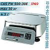 Влагозащищенные весы CAS FW500 (CAS FW500-30E) пыле-влагозащита IP69