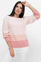 Женский нежно-розовый вязаный свитер, фото 1