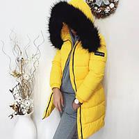 Зимняя куртка женская с мех (холлофайбер) 682
