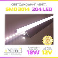 Светодиодная лента Стандарт 3014 204 LED/m 18W/m IP20 (для подсветки и освещения), фото 1