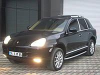 Porsche Cayenne 2003-2010 гг. Боковые площадки Fullmond (2 шт, алюм.)