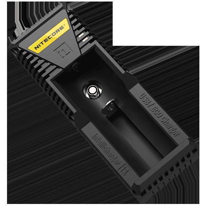 Зарядное устройство Nitecore Intellicharger i1 (1 канал+порт для зарядки электронных сигарет)