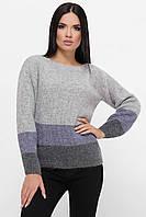 Серый женский оверсайз свитер, фото 1