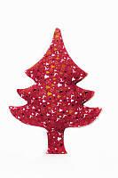 Новогодняя подушка декоративная Олени красные 60 см
