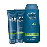"""Набор AVON """"Мягкий уход"""" для мужчин для чувствительной кожи, Avon, Эйвон, Ейвон, 48653"""