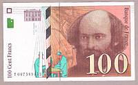 Банкнота Франции 100 франков 1998 г XF