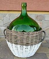 Бутыль стеклянный в плетеной корзине 25л (Румыния)