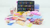 Огромный Набор Всё для Слаймов 91 шт в Подарочной Упаковке клей, активатор, декор, добавки, посыпки