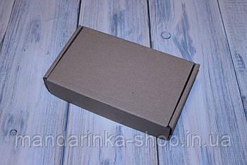 Коробка картонна 185 х 110 х 37 мм, самозбірна (бура)