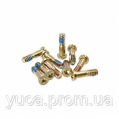 Винты для APPLE iPhone 5/5s/SE золотистые, внешние нижние (10 шт)