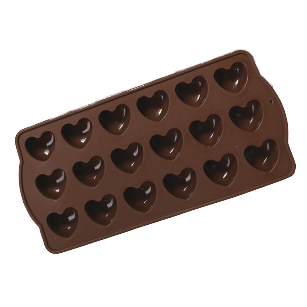 Форма силиконовая для конфет Сердце, 10х21,5х2см