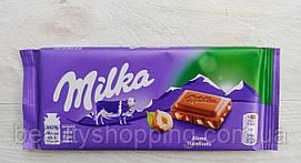 Milka молочный шоколад с дробленным фундуком 100g