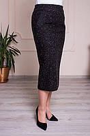 Женская  трикотажная юбка. Размеры 52-66, фото 1