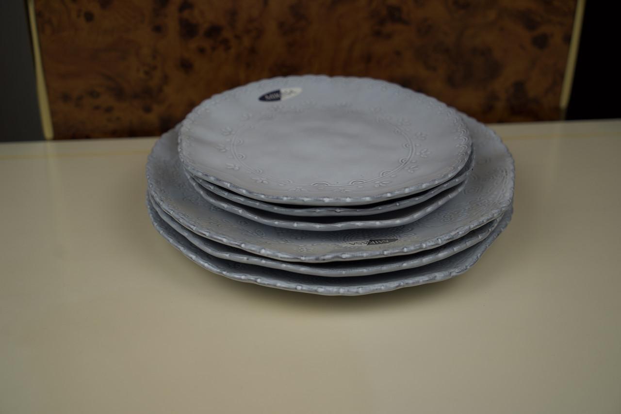 Тарілка блакитна керамічна в наборі Mikasa