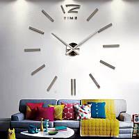 Часы большие 3-D  зеркальные  палочками