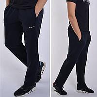 Утепленные мужские спортивные штаны Nike (Найк) / Трикотаж трехнитка - темно-синие