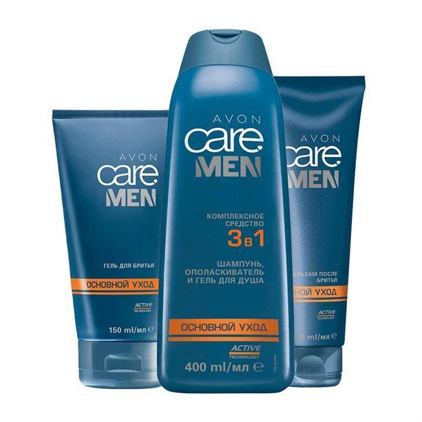 """Набор мужской Avon Men """"Основной уход"""" из 3 продуктов"""