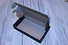 Коробка картонна 185 х 110 х 37 мм, самозбірна (чорна), фото 2