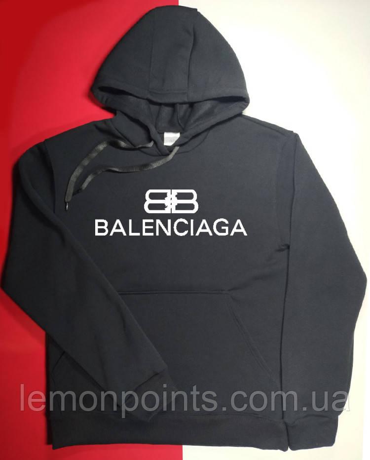 Худі тепле (фліс) Balenciaga худі чоловіча, толстовка баленсіага