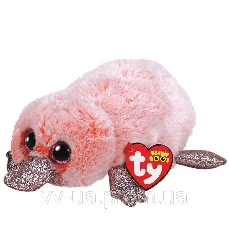 Мягкая игрушка TY Beanie Boos Розовый утконос Wilma, 15 см (36217)