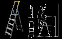 Лестница-стремянка 5 ступеней Bayersystem BS-DA5 Premium