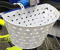 Корзина на детский велосипед (белая)