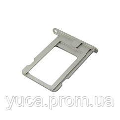 Держатель для SIM карты для APPLE iPhone 5/5s серебристый
