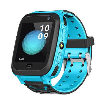 Дитячі наручні годинники Smart F3 смарт вотч годинник телефон Gps трекер Сині
