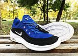 Кроссовки Nike Airmax черно-синие у, фото 3
