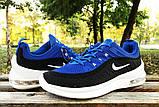 Кроссовки Nike Airmax черно-синие у, фото 4