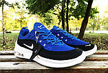Кроссовки Nike Airmax черно-синие у, фото 5