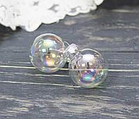 Новогодние стекл. шарики 3 см  1 шт