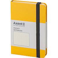 Записная книга блокнот Axent Partner 95x140мм 96л точка,желтый (8309-08-A)