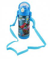 Детский термос с трубочкой поилкой 500 мл, для мальчика Тачки Маквин McQueen 1 Disney