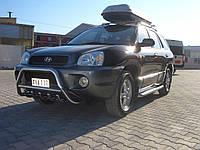 Hyundai Santa Fe 1 2000-2006 гг. Кенгурятник WT003 (нерж.)