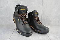 Зимние мужские ботинки из натуральной кожи Barzoni черные