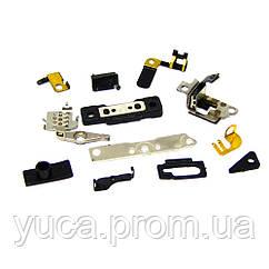 Набор мелких деталей для APPLE iPhone 4/4S (комплект 10шт. (держатели кнопок, рычаг вынимания SIM)) оригинал